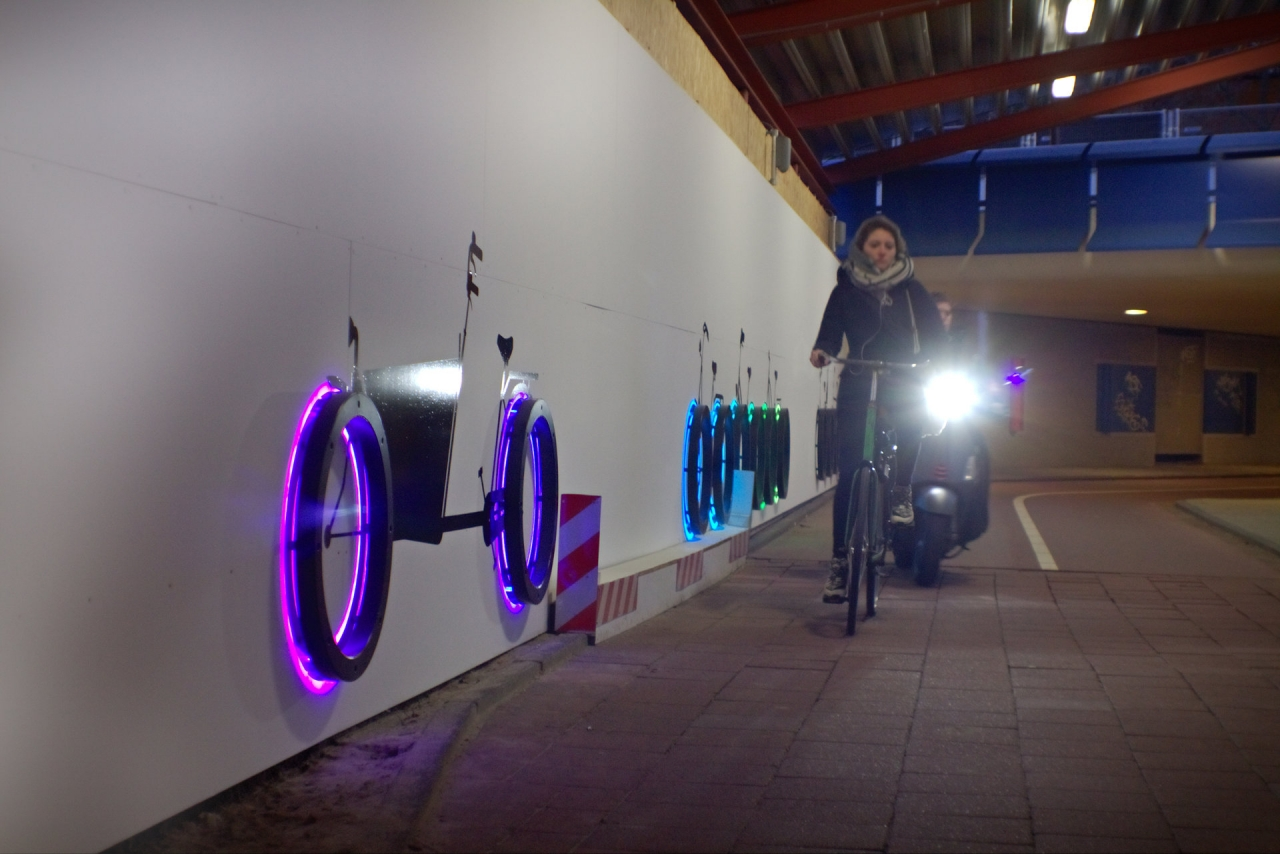 Tunnel lighting art design - together with the light Amsterdam